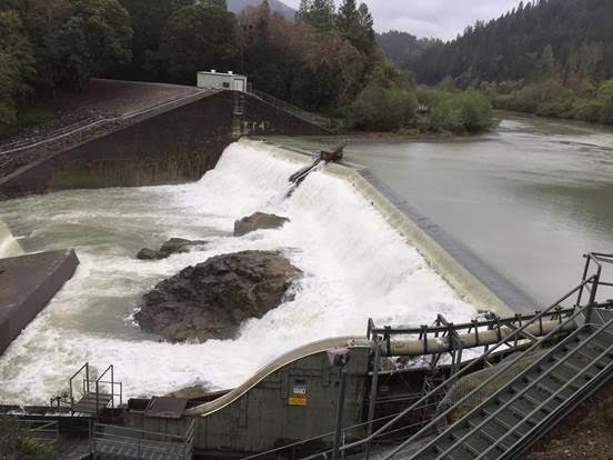 Eel River overflowing at Van Arsedale Reservoir April 2017