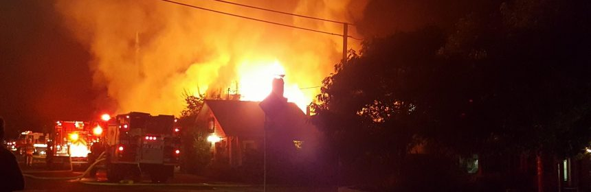 Garberville fire Photo by