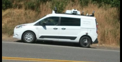 Apple mapping car