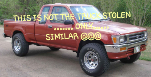 1994 Red Toyota Pickup