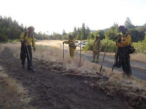 Cutting a fire line training