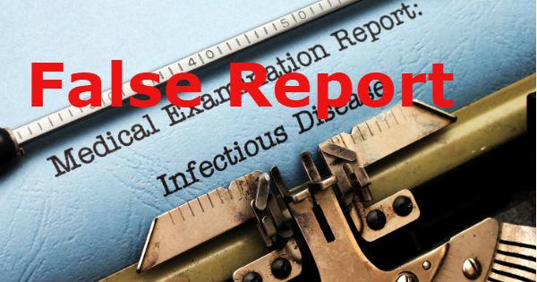 False Report Infectious Disease