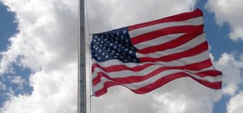 Flag at half-staff [County of Humboldt Photo]