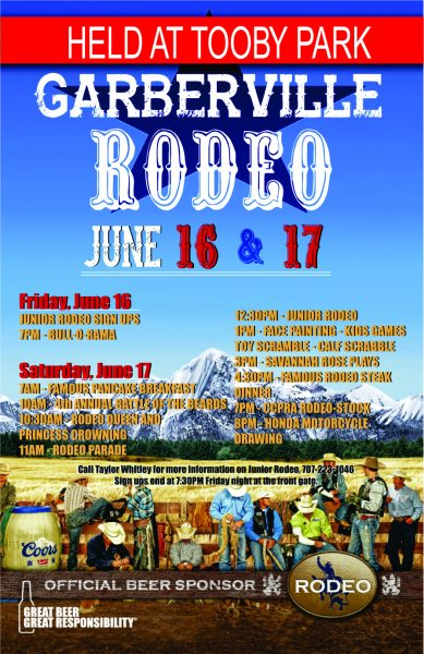 Garberville Rodeo 2017 NEW WITH RED BOARDER