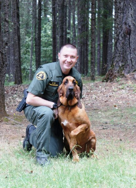 Mendocino County Sheriff's Office K9 Handler Ryan Murdaugh and his partner K9 Chase.