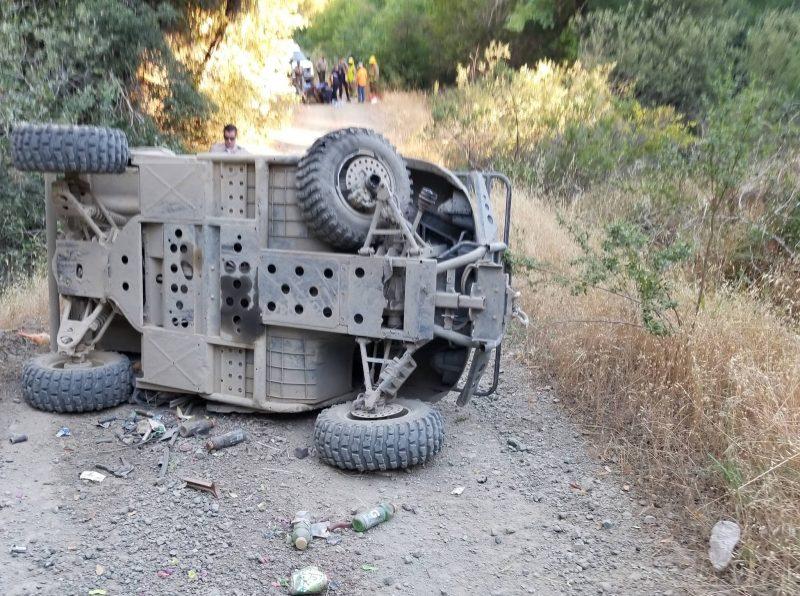 Wrecked ATV