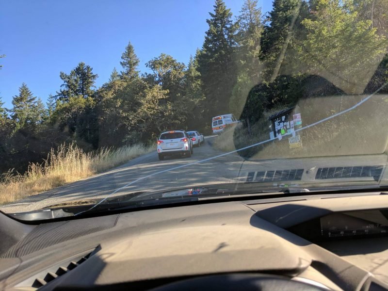 Emergency vehicles on rural Road
