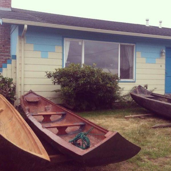 Yurok canoes