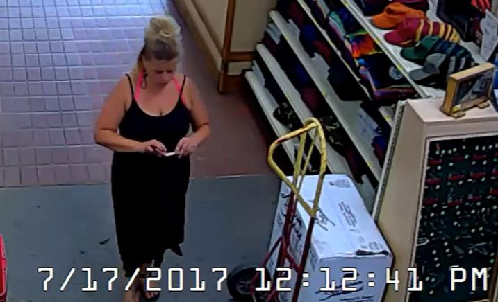 Woman Allegedly Stealing Tool Sets Gets Into Black Mercedes