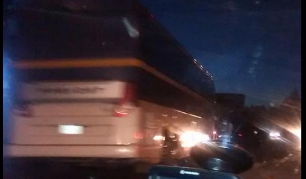 Amtrak bus in collision