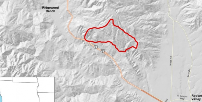 Map of the Grade Fire from Cal Fire.
