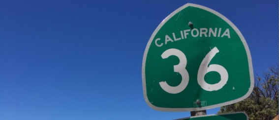Hwy 36 sign