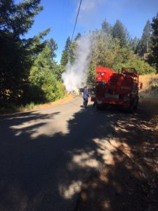 Fruitland Ridge Volunteers were the first on the scene of the fire.