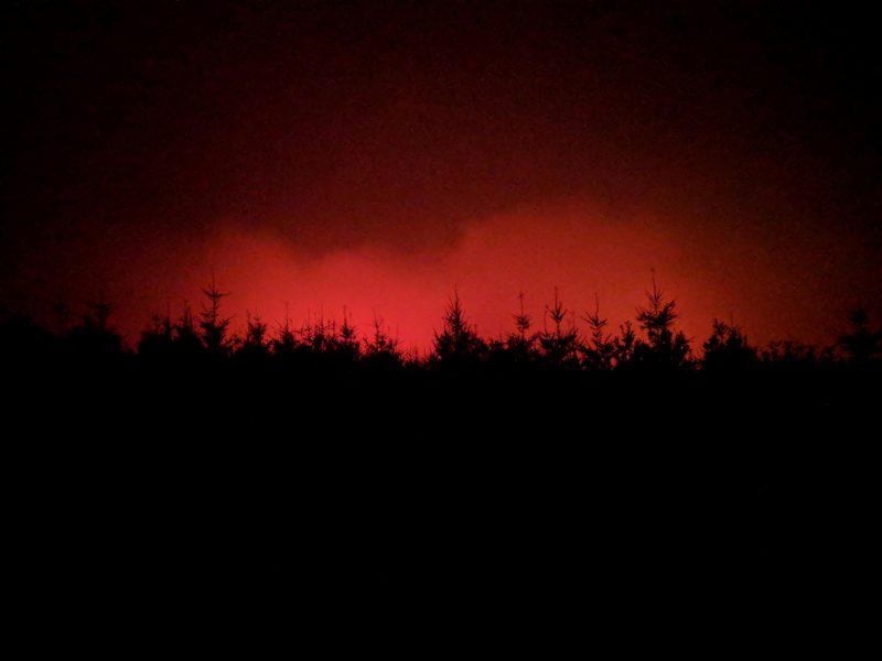 Chetco Fire at night