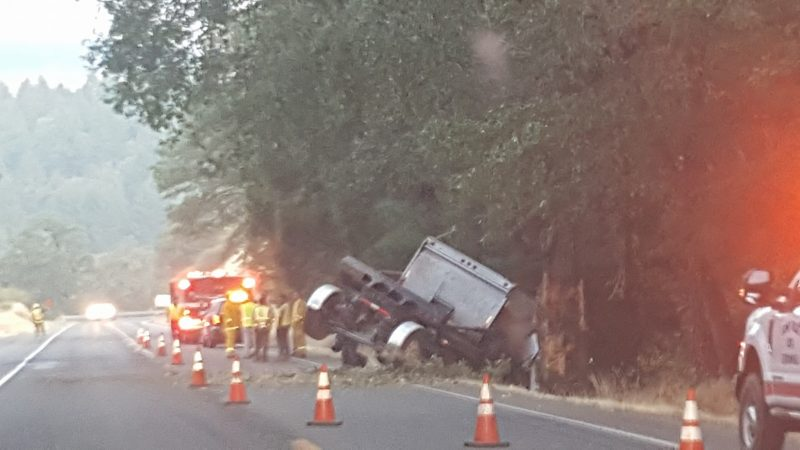 Truck off the road