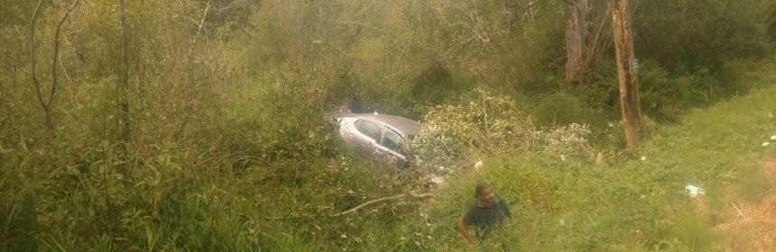 Car in a creek