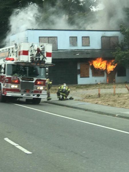 fire at blue Heron motel