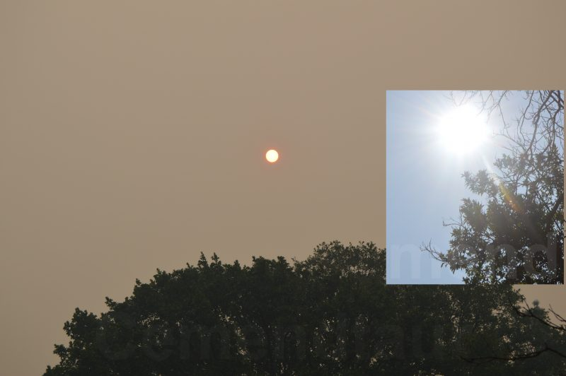 Smoke compared to eclipse