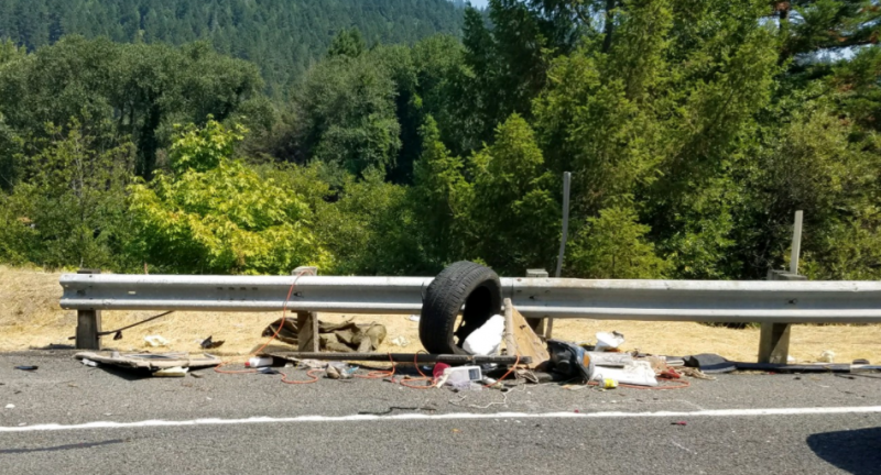 Debris following an accident