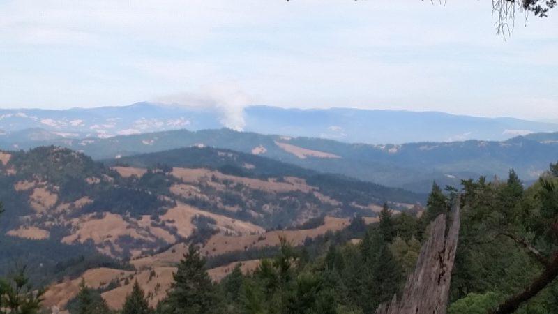 Fire near Blocksburg seen from the west