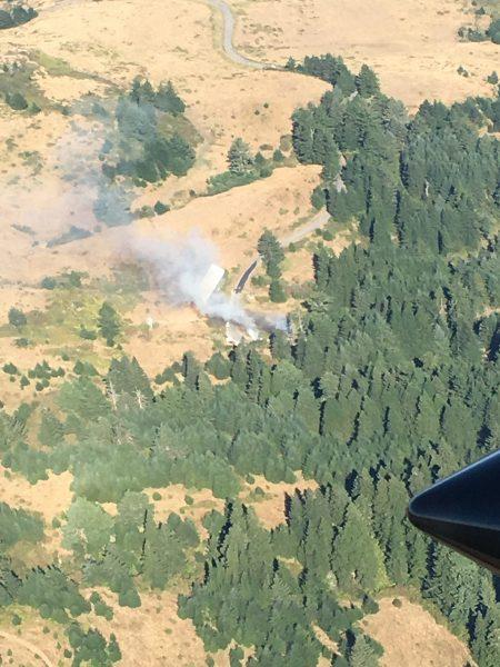 fire from an aircraft