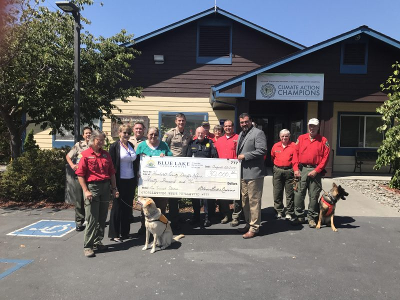 Blue Lake casino presents $30,000 Check to the Humboldt County Sheriff's Office