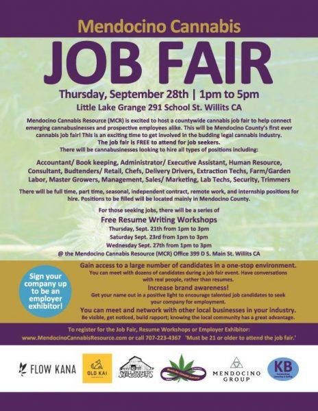 Cannabis Job Fair poster