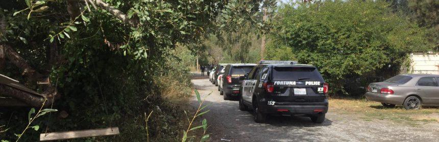Law enforcement on Elm Lane in McKinleyville