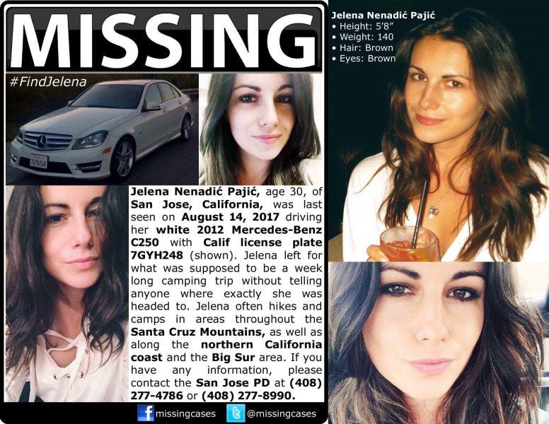 Jelena Pajić missing poster