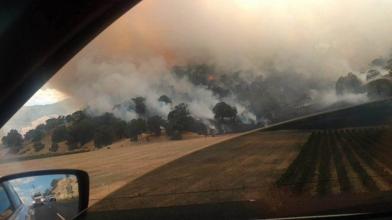 Fire near HOpland