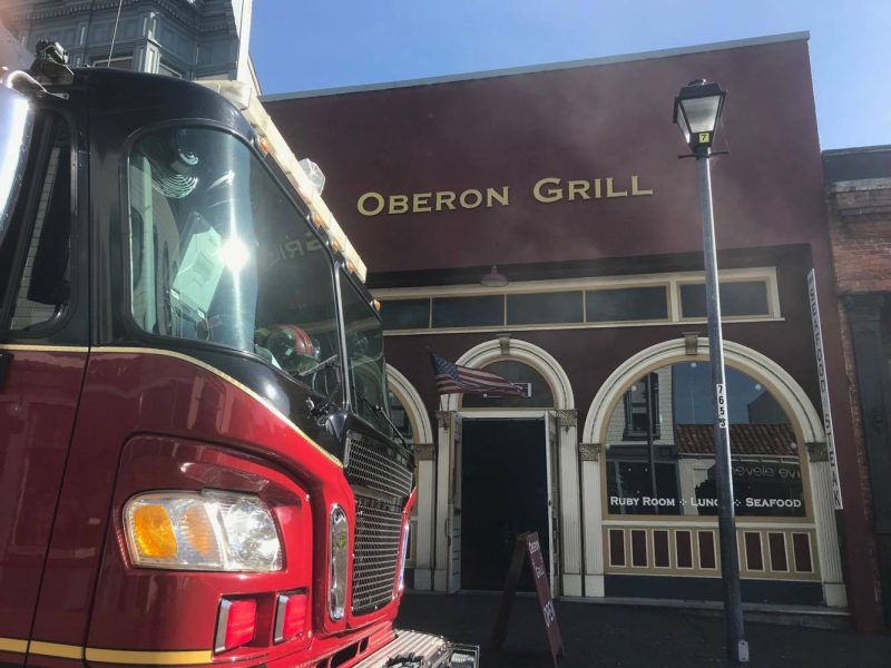 Fire at the Oberon Grill in Eureka