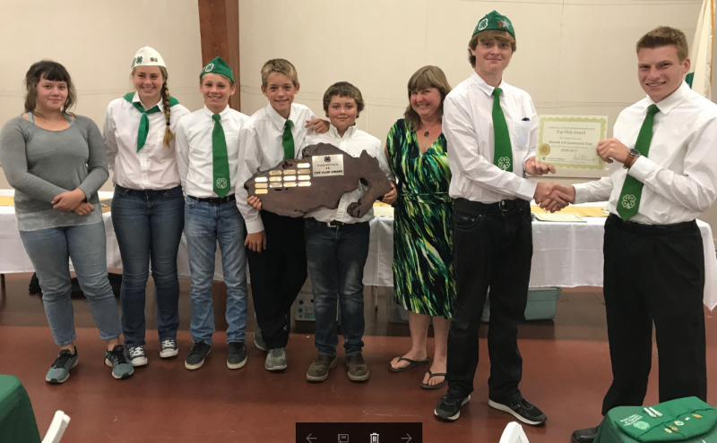 Top Club award received by Miranda 4-H in 2017in Eureka, California