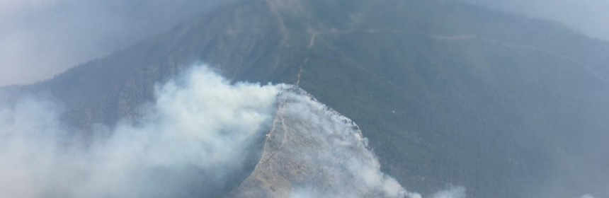The Helena Fire pushes towards the Fork Fire.