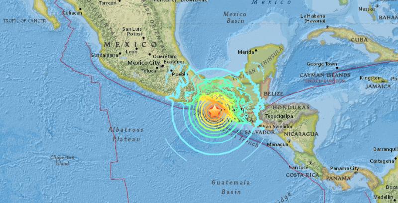Map of 8.o quake