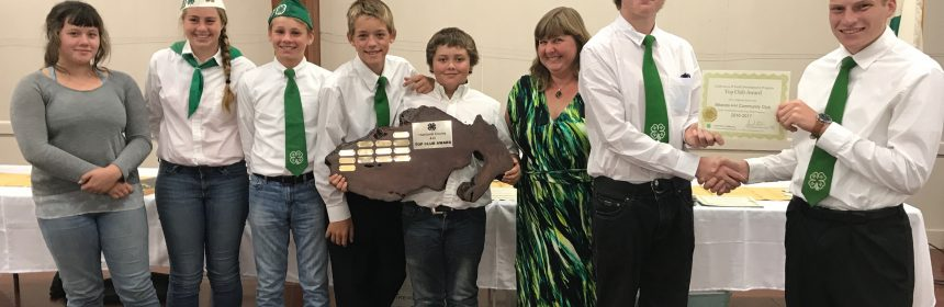 Top Club award received by Miranda 4-H