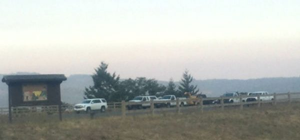 Convoy on Vista Point at Berry Summit