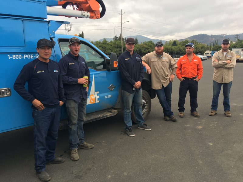 PGE Crews heading to restore power after Hurricane Irma which is expected to have category 5 winds