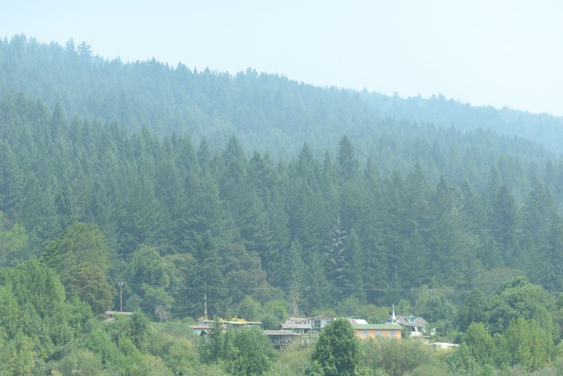 smoke nveloped the eastern portion of the Yurok Reservation.