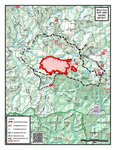 Buck Fire Map 8/18/17