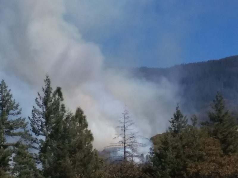 Fire off Hwy 36