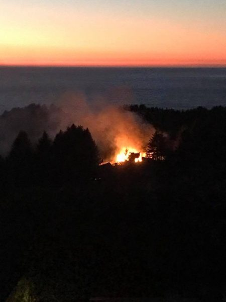 Fire in Shelter Cove