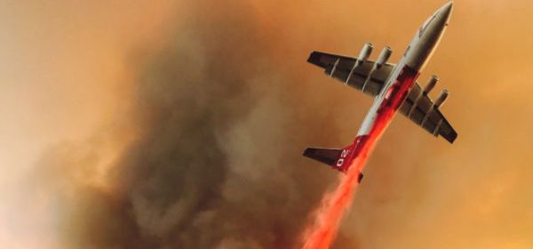 Cal Fire Image of plane dropping fire retardant