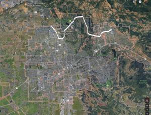 Map of Santa Rosa city Fire