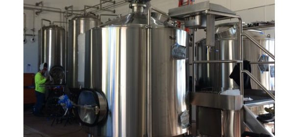 Gyppo Ale stainless steel tank