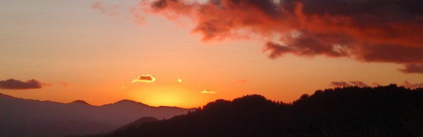 Sunset over the King Range