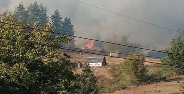 Fire at BLue Lake