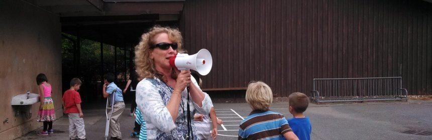 Teresa Martin, a teacher, at Weott Schoo