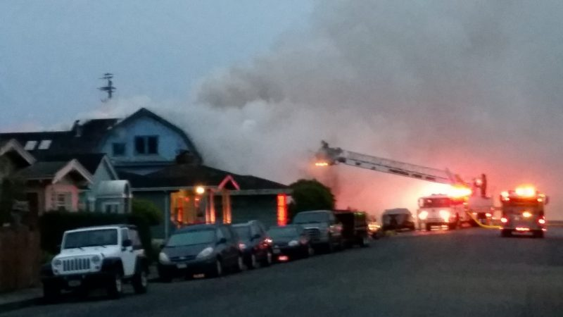 Fortuna Fire Department battles a residential blaze