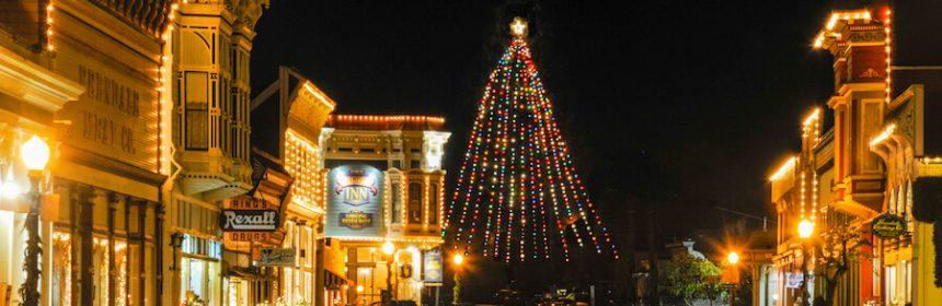 Ferndale on a Christmas Evening.