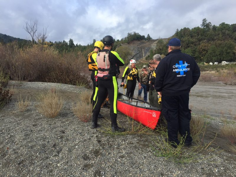 Southern Humboldt Tech Rescue at the Eel River Near Tooby Park